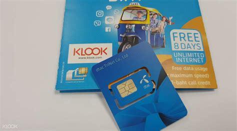 sim card bangkok airports pick   thailand klook