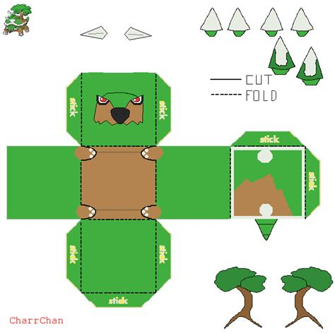 How To Make Origami Bulbasaur - torterra papercraft by charrchan d6yii9r jpg