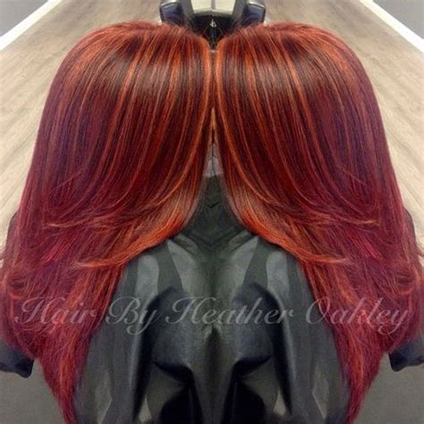 hairstyles with orange highlights hairstyle pic 40 glamorous auburn hair color ideas