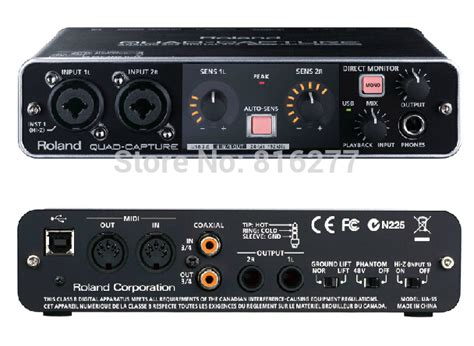 Sound Card Usb Recording roland ua 55 professional recording sound card usb audio interface in sound cards from computer