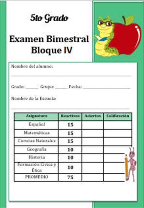 examen bimestral del primer bloque de sexto grado ciclo escolar 2014 ex 225 menes primaria quinto grado bloque 4 ciclo escolar