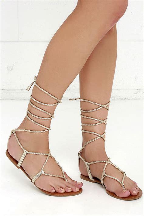leg wrap sandals steve madden werkit gold suede sandals leg wrap
