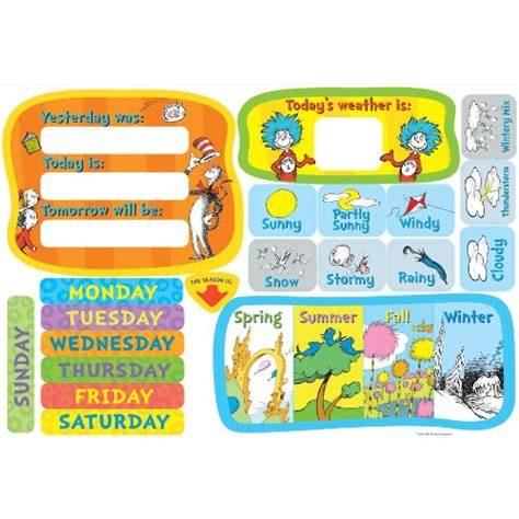 Classroom Calendar Sets Dr Seuss Classroom Calendar Set In The Uae See Prices