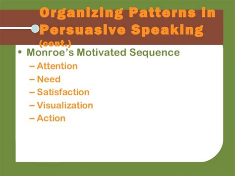 monroe motivated sequence pattern of organization real comm2e ch16
