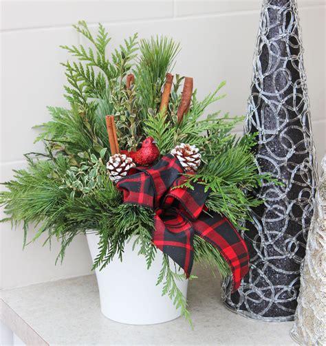 indoor evergreen arrangement   christmas season
