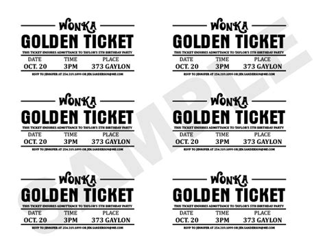 printed ticket font charlie and the chocolate factory golden ticket wrapper