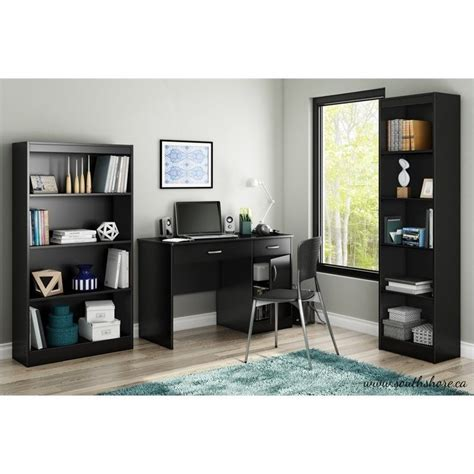 south shore axess small desk south shore axess small computer desk in black 7270070