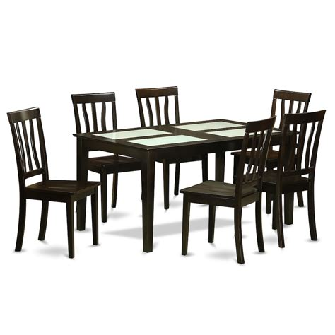 7 pc dining room set 7 pc formal dining room set dinette glass top table and 6