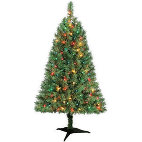 hillside 4ft pre lit cbrostmasf indiana spruce 4ft artificial prelit multi light tree 1 day ship m f ebay