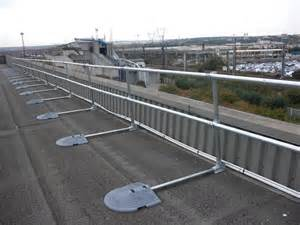roof handrail roof railing system for roof fall protection osha