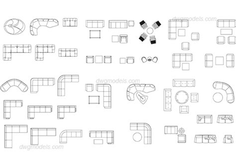 Table High Chair Seat Furniture Living Room Dwg Free Cad Blocks Download