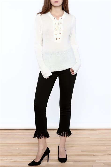 Hoodie Laboratories Hitam 2sweater ecru lab lace up sweater from california by isalis