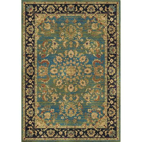 home traditions rugs orian rugs twisted tradition aqua 5 ft 3 in x 7 ft 6 in indoor area rug 318272 the home depot
