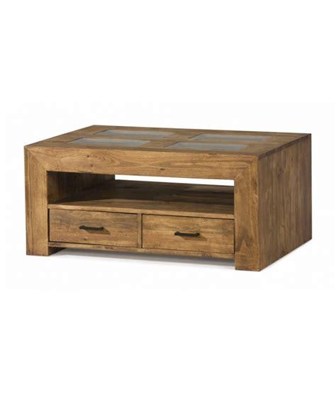 mesa centro con cajones comprar mesa centro de madera estilo rustico con cajones y