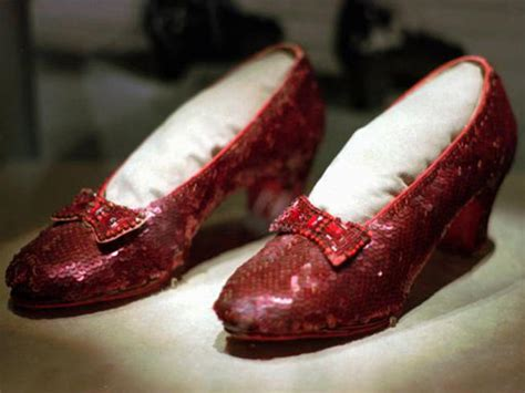 ruby slippers stolen costumes from the wizard of oz the golden brick road
