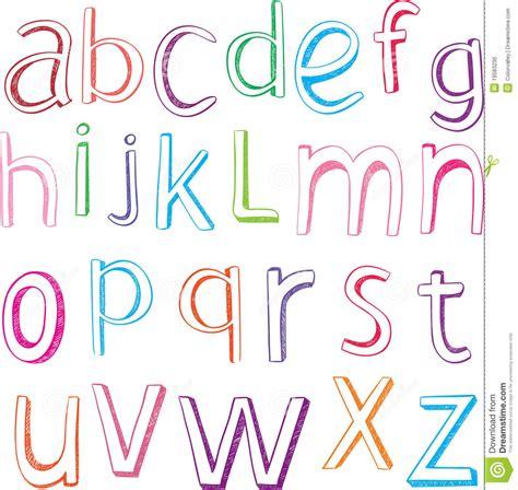 lettere alfabeto disegnate lettere disegnate a mano di alfabeto fotografia stock
