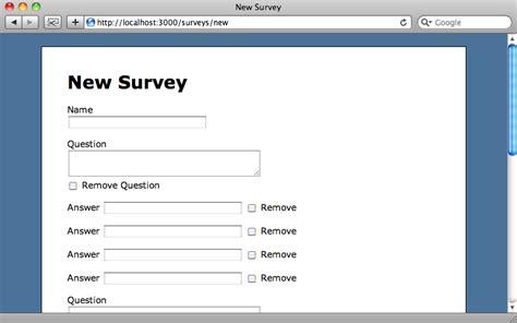 Create A Survey - 196 nested model form part 1 railscasts