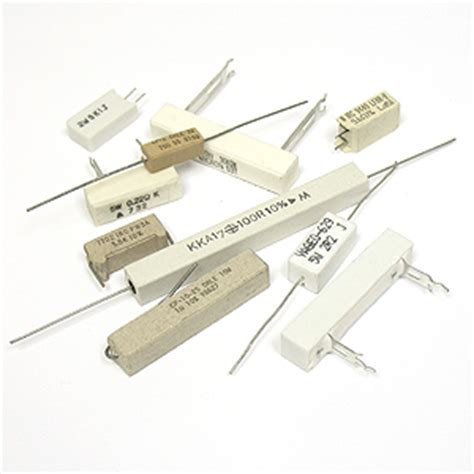what type of resistors are generally used when a high power rating is needed resistor types and their applications