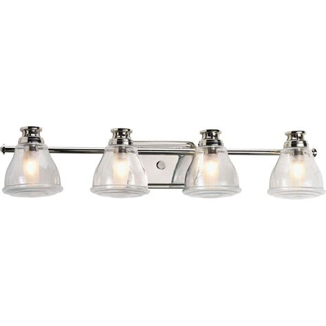 Chrome Bathroom Lights Progress Lighting Academy Collection 4 Light Polished Chrome Bath Light P2813 15wb The Home Depot