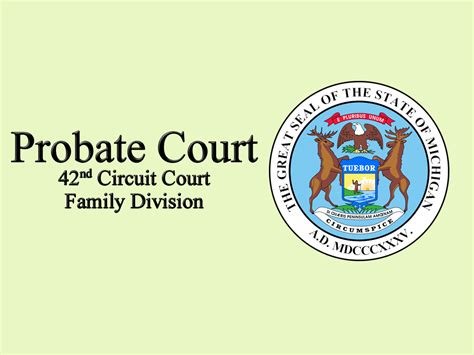 Probate Court Records Contact Information Court Name
