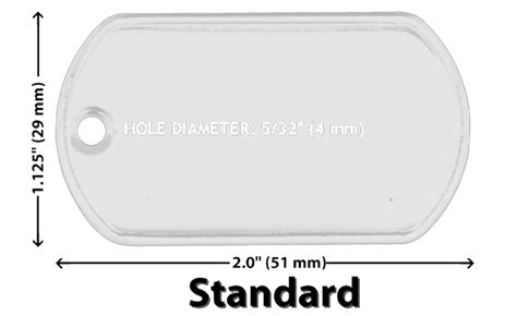 Tag For Standard Size Of Wholesale 10 25 50 100 Blank Tag Stainless Steel Spec Necklaces Ebay