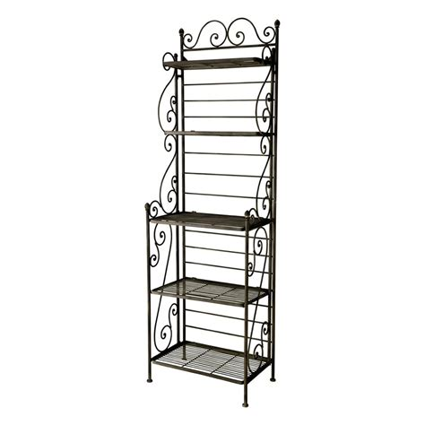 wrought iron shelf unit in brown w 58cm manon maisons du