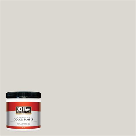 behr premium plus 8 oz 790c 2 silver drop interior exterior paint sle 790c 2pp the home depot