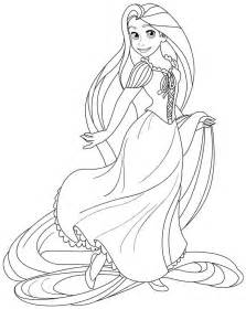 rapunzel painting colouring pages