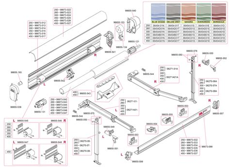 Fiamma F45 Plus Awning by Caravansplus Spare Parts Diagram Fiamma F45 S 250 450