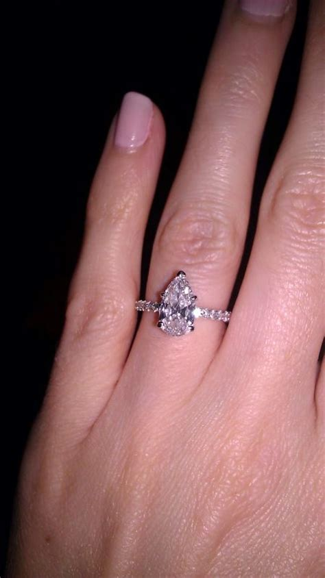 pear engagement ring weddingbee photo gallery