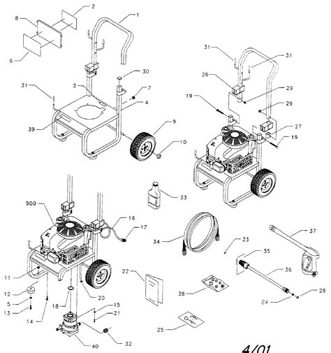 craftsman pressure washer parts diagram craftsman pressure washer parts model 580767200 sears