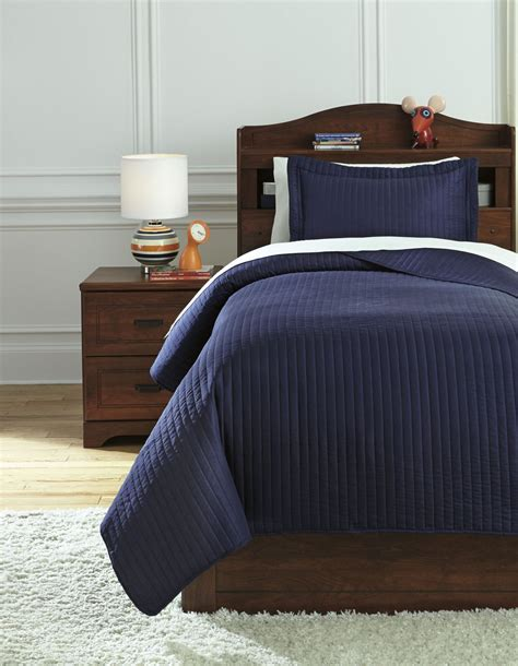 twin coverlet sets raleda navy twin coverlet set q497001t ashley