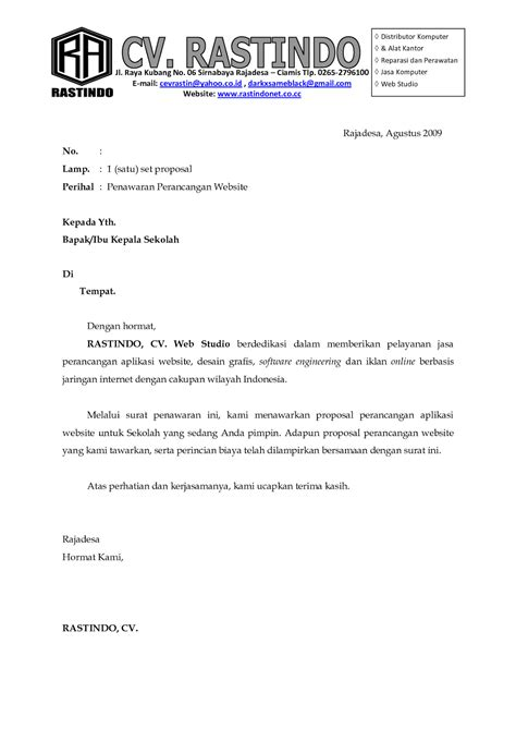 contoh application letter yang baik contoh application letter