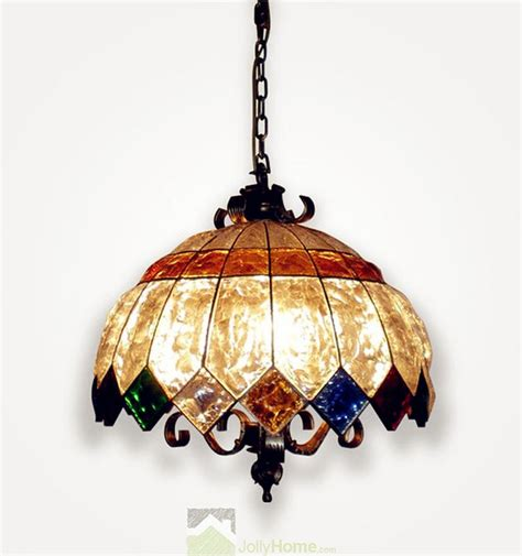 Wholesale Pendant Lighting Wholesale Colorful Glass Mid Lotus Flower Pendant Light Bronze Mediterranean Pendant