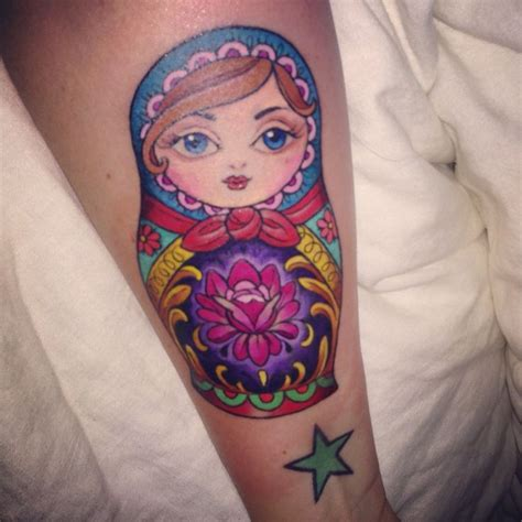 kim saigh tattoo russian doll by saigh