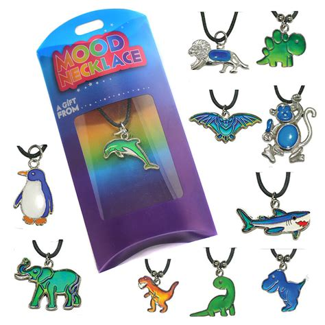 mood necklaces colors thermochromic colour changing animal mood necklace pendant