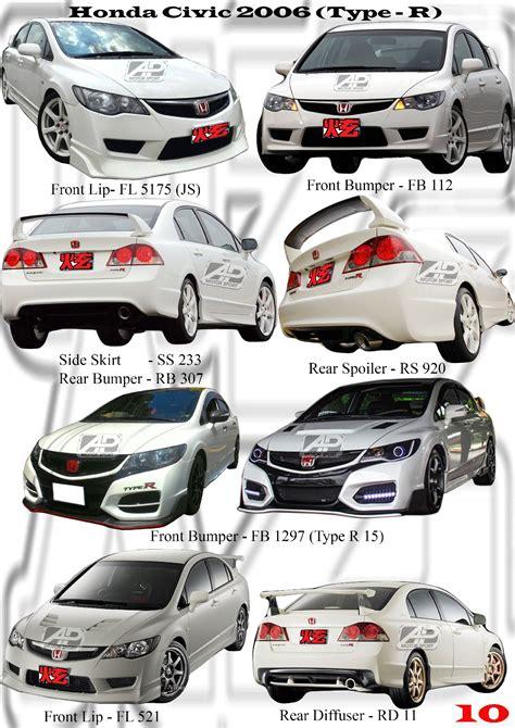 Bodykit Honda Civic Fd Type R honda civic 2006 type r bodykits honda civic fd 2006 and 2009 johor bahru jb malaysia kits