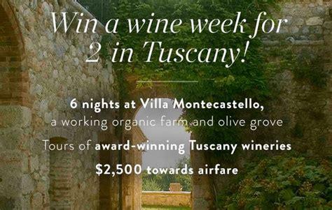 Travel Sweepstakes - win a getaway to villa montecastello milesgeek