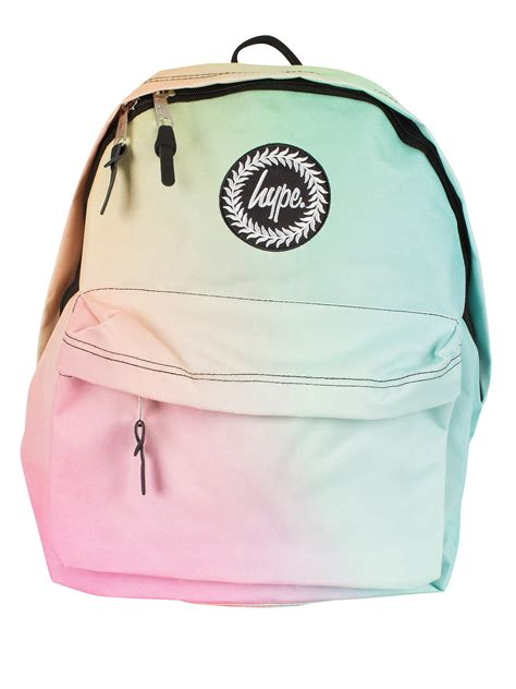 Pastel Bag hype multi pastel gradient fade logo backpack stand out