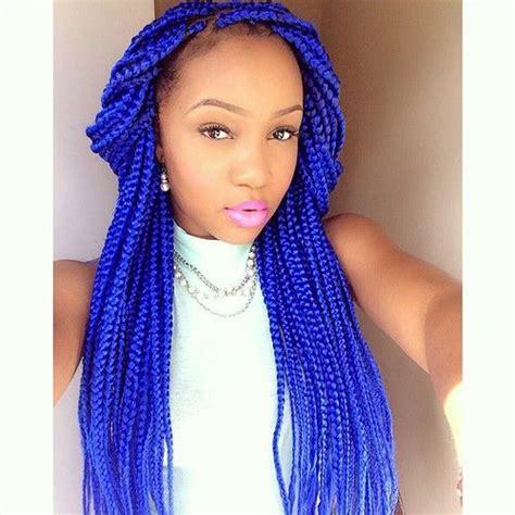 box braids in a bob with blue hair com 65 box braids hairstyles for black women