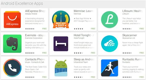Apps For Android Android Excellence Collections Highlight The Best Apps On
