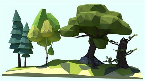 Tutorial Blender Tree | tutorial low poly trees blendernation