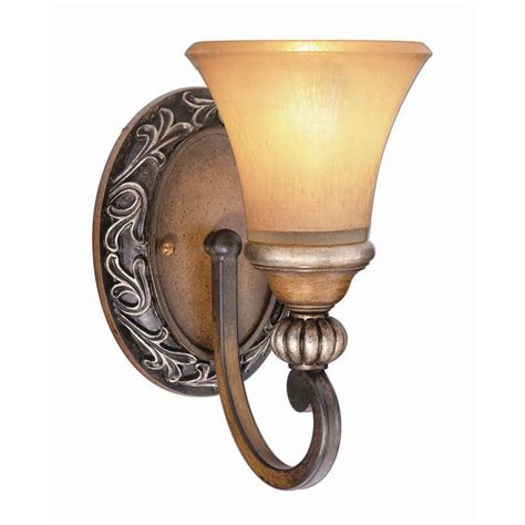 Home Depot Lighting Sconces hton bay 1 light caffe patina sconce 15108 the home depot