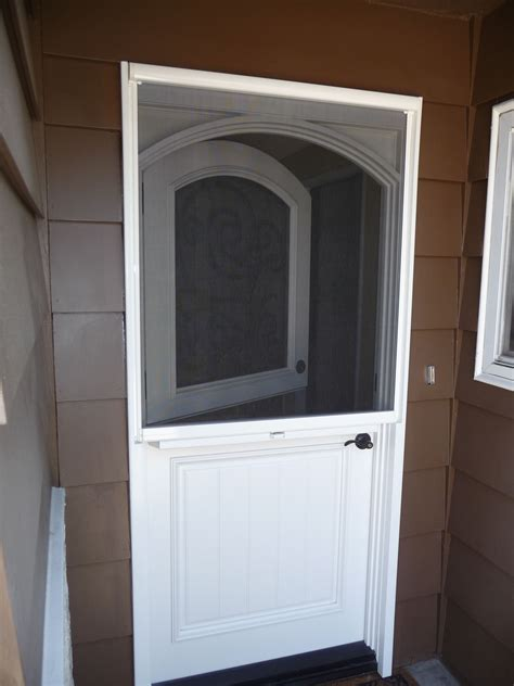 Dutch Doors Stowaway Arched Dutch Door Retractable Exterior Doors With Screens And Windows