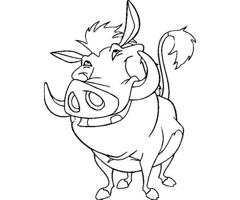 pumba free coloring pages