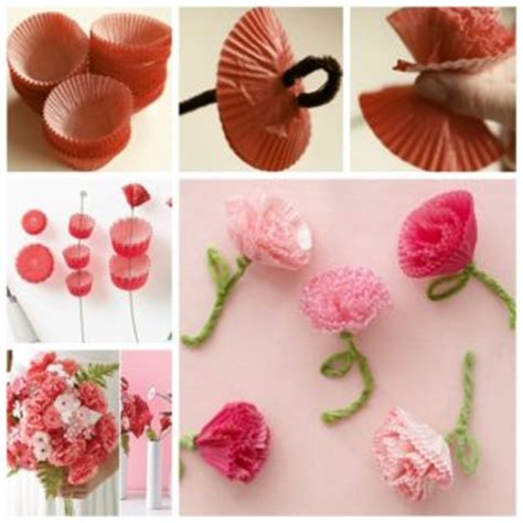 How To Make Paper Carnations - wonderful diy peonies from cupcake wrappers
