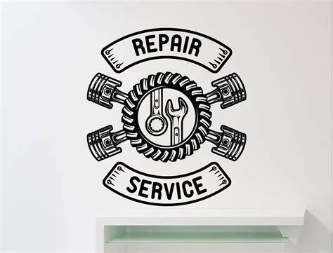 werkstatt logos repair service wall sticker car workshop logo auto service