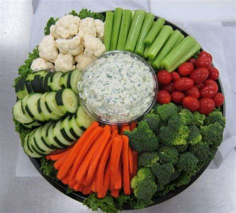veggie tray it s all about presentation