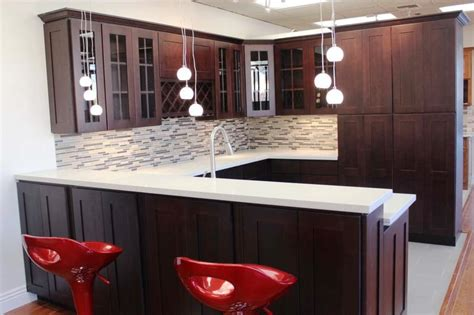 Kitchen Cabinets With Frosted Glass Doors by Espresso Kitchen Cabinets In 12 Sleek And Cool Designs