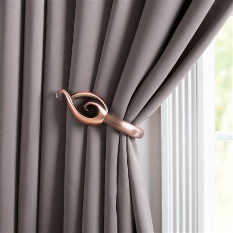 leaf curtain holdbacks lavish home leaf holdback pair in rubbed bronze 63 19223a